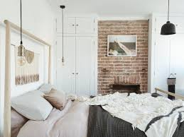 IKEA gjora bed with exposed brick wall, Scandinavian style bedroom ...