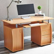 home office computer desk laptop pc study table with 3 drawers