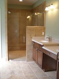Walk In Tile Shower Master Bathroom With Glass Installed For Walk In Shower No More