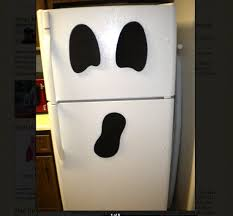 office halloween ideas. look a ghost refrigerator for halloween office ideas