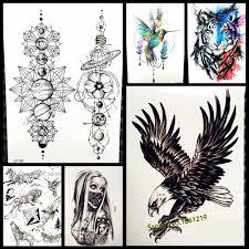 темный орел ворона временные татуировки наклейки для женщин для мужчин средства