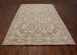 100 wool rugs traditional hand knotted modern area rug grey ivory color wool rugs 6 x