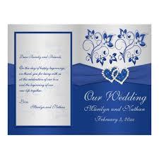 royal blue and silver wedding invitation templates for microsoft White And Blue Wedding Invitations royal blue and silver floral heart wedding invitations & stationery royal blue and white wedding invitations