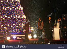 President Obama Christmas Tree Lighting Us President Barack Obama Officially Lights The National