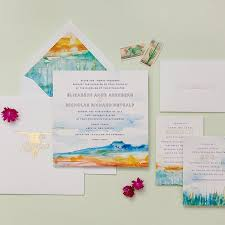 Wedding Invitations Watercolor Watercolor Wedding Invitations Brides