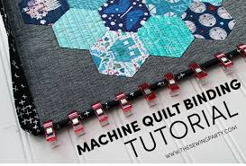 Machine Quilt Binding Tutorial | The Sewing Party & Machine Quilt Binding Tutorial Adamdwight.com