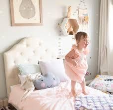 Mia Bedroom Furniture Mia Kids Single Linen Upholstered Bed Beds