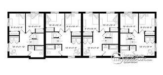 Multi Family Plan W3065 Detail From DrummondHousePlanscomQuadplex Plans