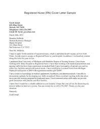 New Grad Nurse Cover Letters Rome Fontanacountryinn Com
