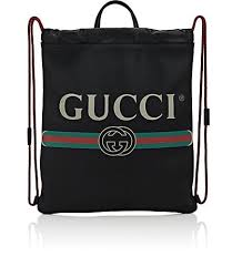 gucci logo. gucci logo drawstring backpack - backpacks 505392082