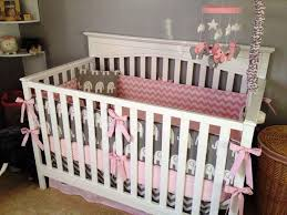 girl elephant nursery bed