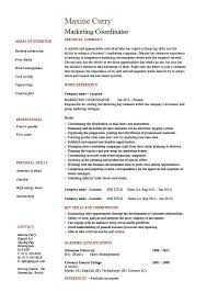 Collection of Solutions Sample Marketing Coordinator Resume About Free  Download