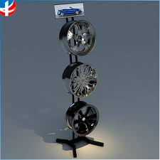 Alloy Wheel Display Stand Metal Display Rack Stand For Tire Wheel Hub Exhibition Trade Show 13