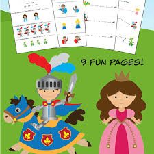 Knights and Dragons K-1st Grade Worksheets - Frugal Mom Eh!