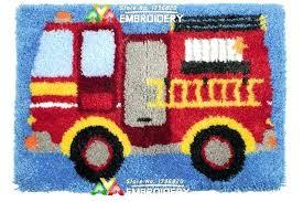 truck rug fire truck rug new latch hook rug kits fire truck needlework unfinished crocheting rug