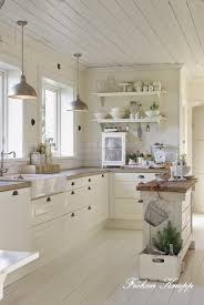 white country kitchens. LOVE This Entire KitchenFarm House Sink, Open Shelving, White CabinetsLots Of Natural Light, And A Sweet Island With Reclaimed Wood Top. Country Kitchens H