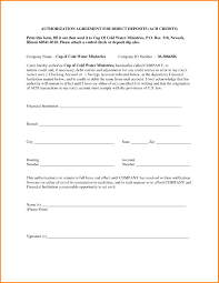 Credit Card Debit Authorization Form Template