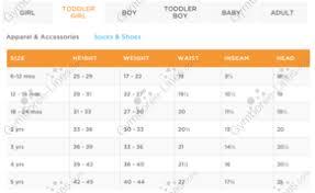 Gymboree Baby Shoe Size Chart Gymboree Size Chart Line Size Chart Gymboree Lines