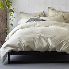 the company domino by the company on point organic percale duvet cover domino