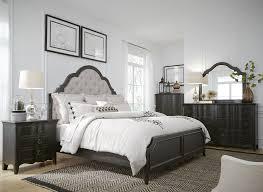 Antique black bedroom furniture Black Home Chesapeake Antique Black Upholstered Panel Bedroom Set 2457597 Coleman Furniture Chesapeake Antique Black Upholstered Panel Bedroom Set From Liberty