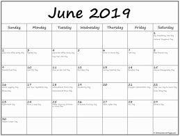 Vacation Calendar Templates June 2019 Holidays Calendar Template Download Free