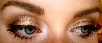 gold eyeshadow faviana