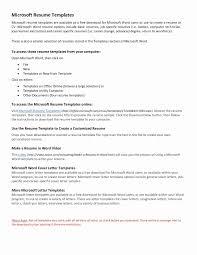 Microsoft Word Resume Template Salumguilherme