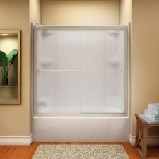 semi frameless shower doors frosted glass sliding sterling finesse 59 5 8 in x 55 3 4 in with nice decorative and lighting