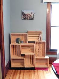 wood crate bookcase crate shelves crate shelves wooden crate bookcase wood crate bookshelf diy