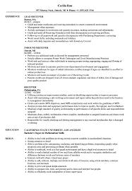Receiver Resume Samples Velvet Jobs