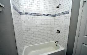 how to install subway tile in a shower fresh decoration subway tile shower surround pretentious idea