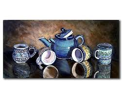 polish pottery teapot still life gallery wall art print primitive rustic kitchen decor size mat on primitive kitchen wall art with amazon polish pottery teapot still life gallery wall art print