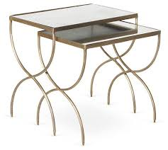 e kings lane furniture in a flash gail nesting tables set of 2