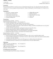 Sample Social Work Resume Objectives New Human Resources Resume