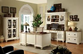 home office interiors. Combined Office Interiors Desk. Rustic Style Home Design With White Painted Furniture Interior Color N