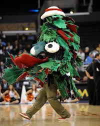 The Stanford Tree performs in the first half of a Cardinal basketball game  against the Oregon