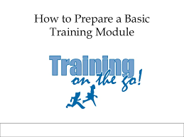 Training Manual Template How To Prepare A Basic Training Module