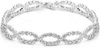 <b>Neoglory Jewelry Platinum Plated</b> Stunning Rhinestone Classic ...