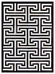 black and white geometric rug. black \u0026 cream modern geometric cowhide rug, 4\u0027 x 6\u0027 modern-area and white rug houzz