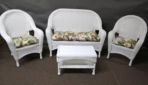 riviera 4 pc set with cushions beautiful white wicker furniture 16