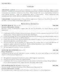 Administrative Resume Samples Free Putasgae Info