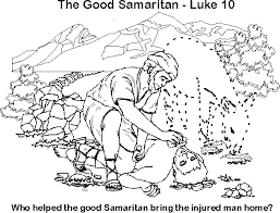 Free Coloring Page Good Samaritan Bible Jesus And His Parables