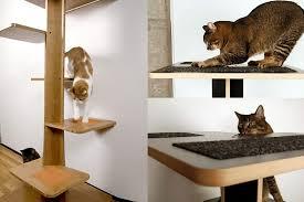 modern cat tree furniture. square cat habitat baobab modern tree furniture d