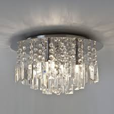 astro lighting evros 3 light crystal bathroom ceiling