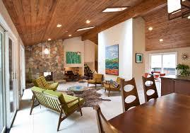 mid century modern window treatments living room midcentury with artwork atlanta cablik ceiling