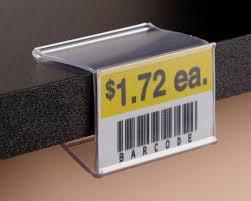 info strip label holder for wood shelving