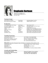 Dance Resume template Dance Resume Template For College 21