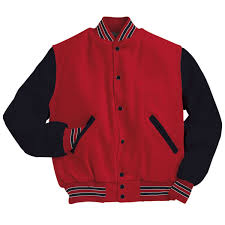 Amazon Com Varsity Wool With Leather Sleeves Jacket From