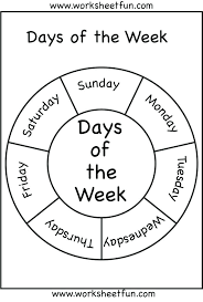 Days Of The Week Worksheets Day Free Activities Printable – skgold.co