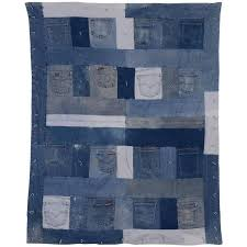 denim quilt with jeans pockets for